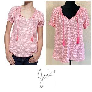 Joie Masha silk short sleeve - Candy red